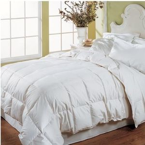 White Full Down Duvet Blanket Hypo-Allergenic